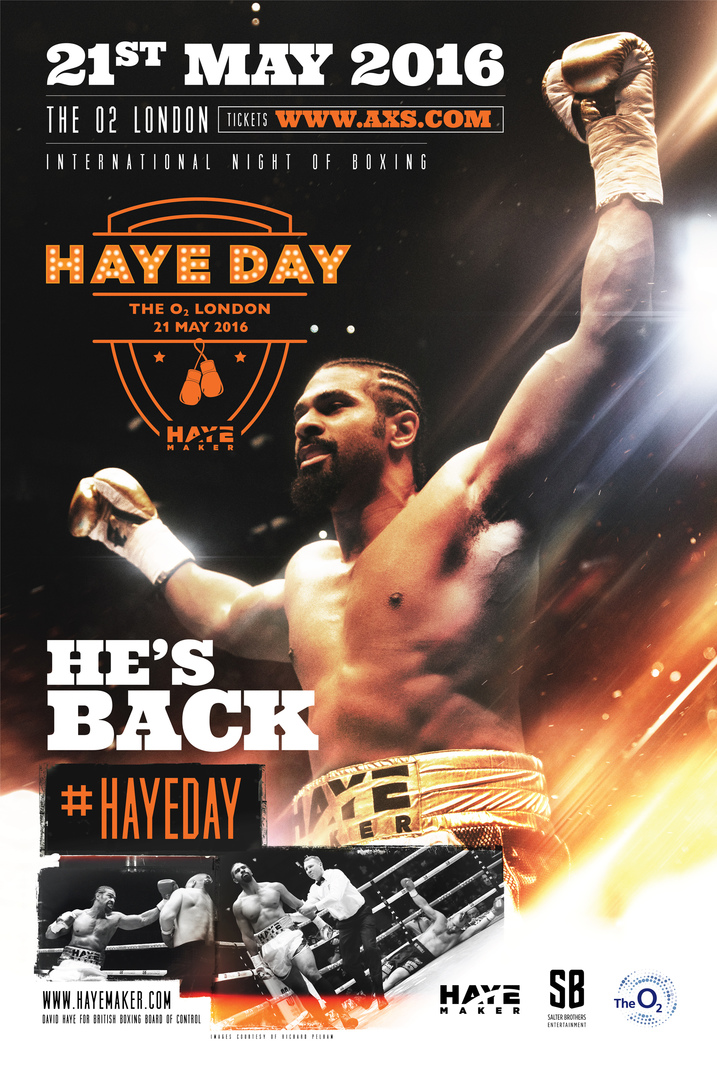 ENGLISH MIDDLEWEIGHT TITLE FIGHT CONFIRMED AS CHIEF SUPPORT ON  HAYE DAY BILL